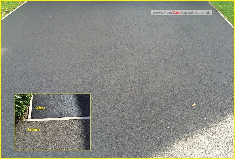 Tarmac Drive cleaning and sealing - www.FloorCareSpecialists.co.uk