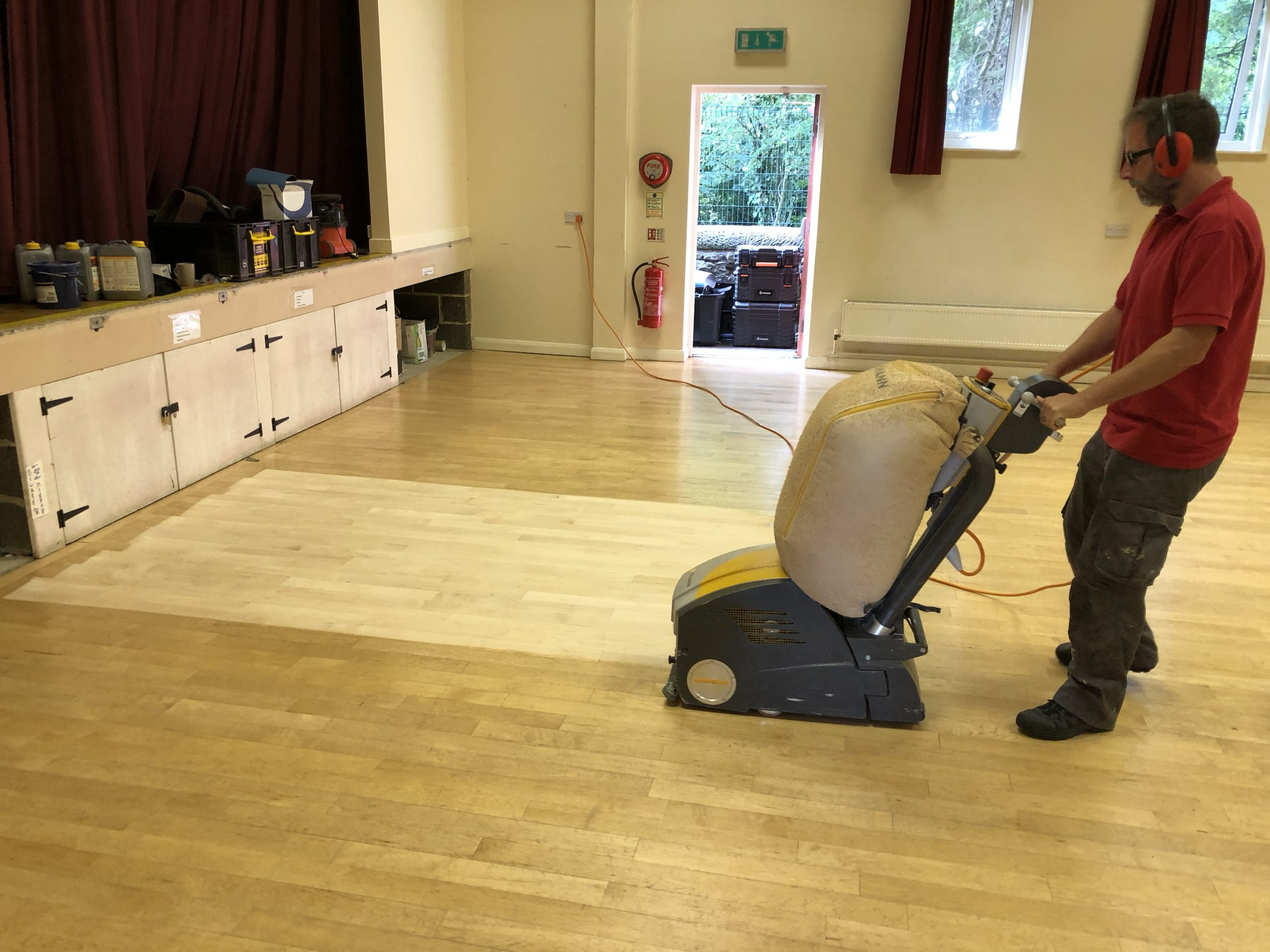 Church Hall Wood Floor Sanding and Restoration in Derbyshire - www.Bailey'sFloorCare.co.uk